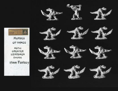 Alternative Armies 15mm Fantasy HOT45 Greater Lizardmen with 2H-Sword (x 12)